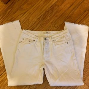 Free People White Jeans